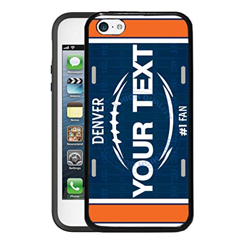 BRGiftShop Customize Your Own Football Team Denver Rubber Phone Case for Apple iPod Touch 5th & 6th Generation (Ipod Touch Denver Broncos Case)