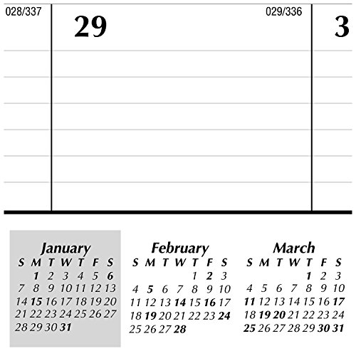 Large Product Image of AT-A-GLANCE Monthly Desk Pad Calendar, Ruled Blocks, January 2018 - December 2018, 22