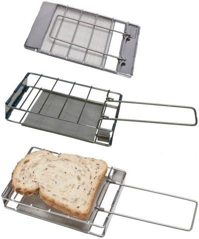 Edelstahl Camping Toaster für den Gas Herd