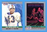 1990 Pro Set Football (Super Bowl #7) **** (2) Card Lot featuring Super Bowl MVP Jake Scott and Super Bowl Program Cover ***Undefeated Season*** (Dolphins) (Redskins)