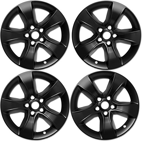 Charger Dodge Wheels Chrome Rims (OxGord 17 inch Hubcap Wheel Skins for 2008-2014 Dodge Charger-(Set of 4) Wheel Covers- Car Accessories for 17inch Chrome Wheels- Auto Tire Replacement Exterior Cap Cover)