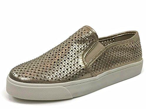 Soda Womens Slip On Sneakers - Punta Chiusa Con Riflessi Dorati