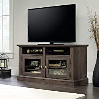 Sauder New Grange TV Stand in Coffee Oak