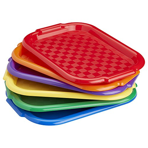 ECR4Kids Colorful Plastic Art Trays for Fun Kids Crafts at School, Assorted (6-Pack)]()