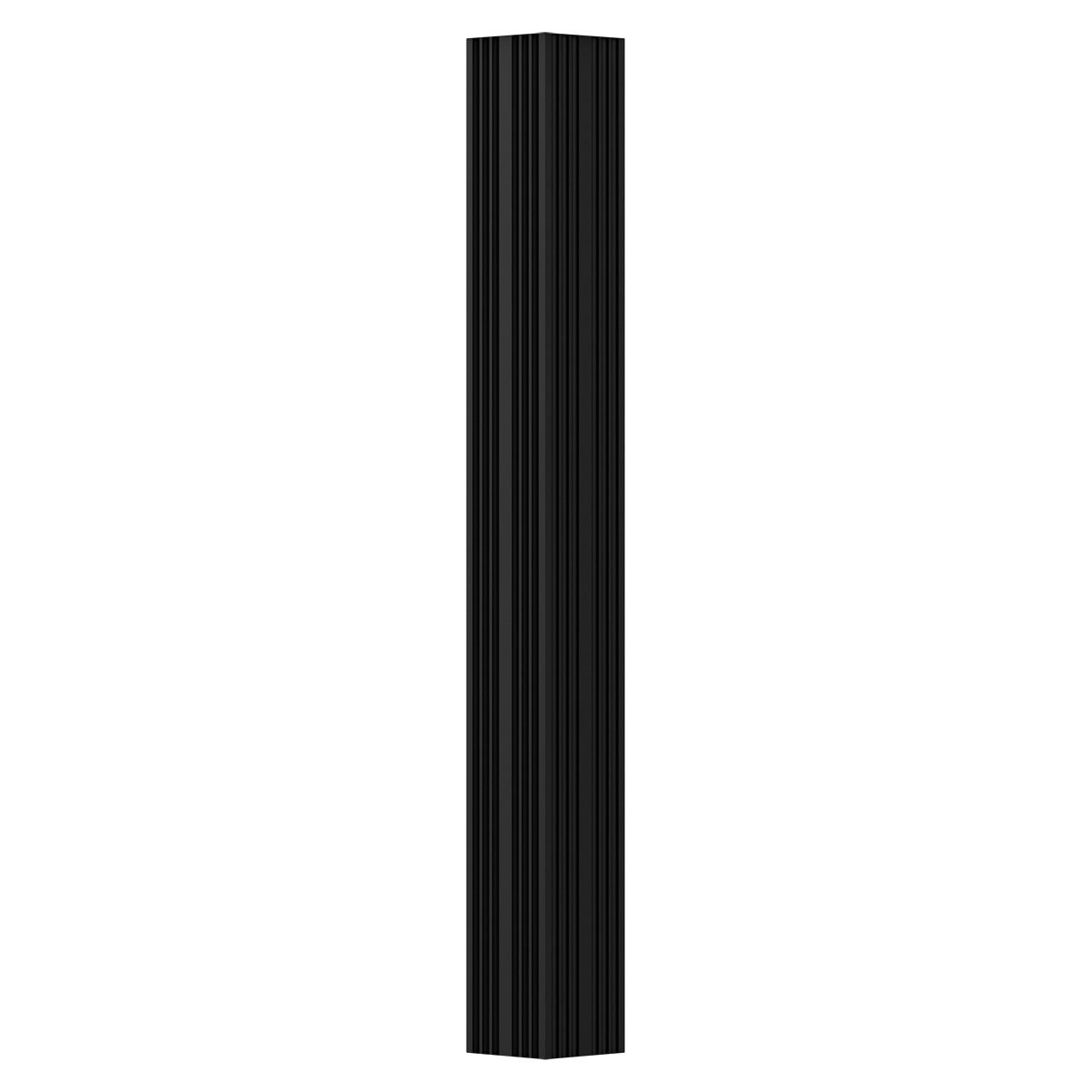 Fluted Non-Tapered Textured Brown Finish w// Capital /& Base AFCO EA0408INFSFTUTU 4 x 8 Endura-Aluminum Column Square Shaft For Post Wrap Installation