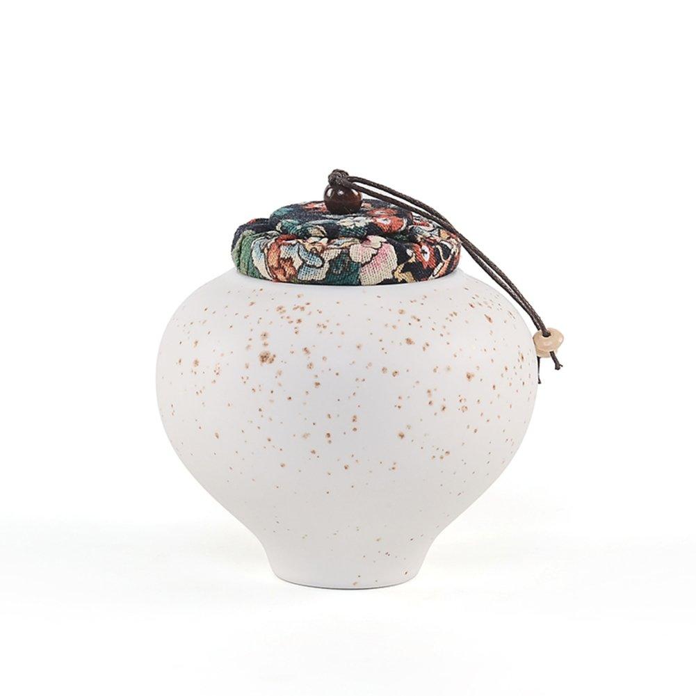Recipiente de cerámica,Tarro de té,Caja de té,Latas de caramelo El carrito Cartucho cerrado Cubo de té-D 10x10cm(4x4inch)