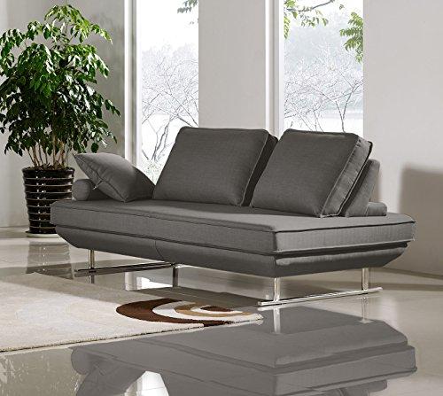 Diamond Sofa Dolce Adjustable Sleeper Sofa Sofa in Gray