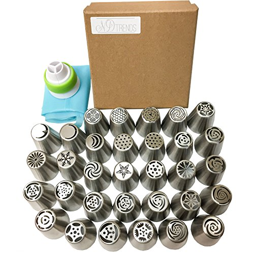 newest-extra-large-russian-piping-tips-32-pcs-1-reusable-silicone-pastry-bag-1-tri-color-coupler-304