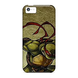 Rugged Skin Case Cover For Iphone 5c- Eco-friendly Packaging(ninja Turtles)