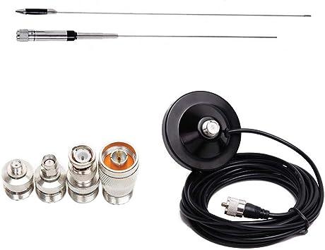 Demino Adaptador de Cable NL-770S VHF Radio Kit UHF Antenas ...