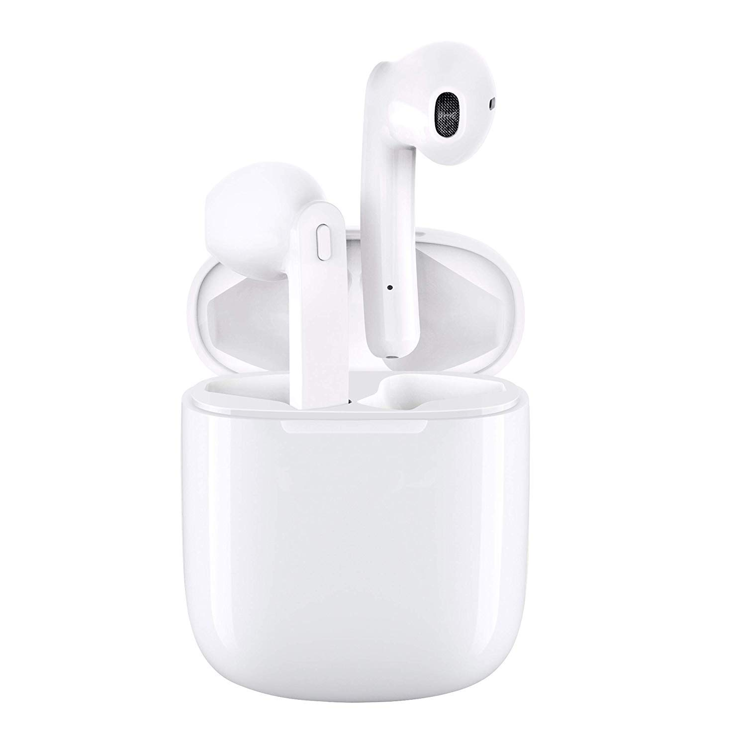 Wireless Earbuds Bluetooth Headphones 5.0 Stereo Hi-Fi Sound with Deep Bass Wireless Earphones Built-in Mic Headset, 4.5 Hours Playtime, in-Ear Bluetooth Earphones with Charging Case