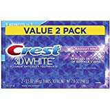 Crest 3D White Whitening Toothpaste, Radiant Mint, 3.5oz, Twin Pack (.2 Pack)
