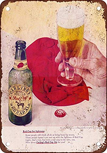 YFULL Carling Red Cap Ale Vintage Look Reproduction Metal Tin Sign 12X16 Inches
