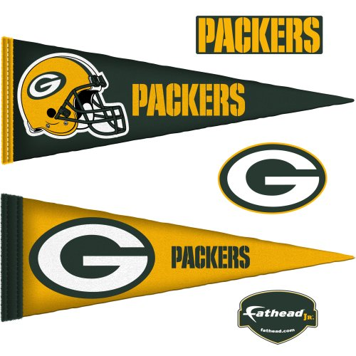 NFL Green Bay Packers Junior Logo Pennants Wall Graphic