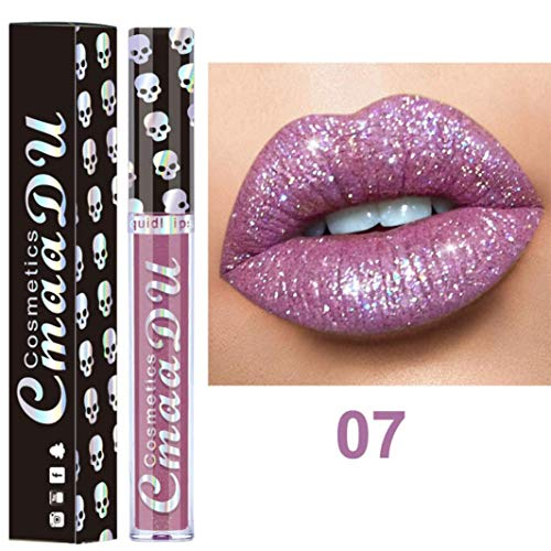 (Creazy Sexy 8 Colors Nude Metallic Matte Velvet Glossy Lip-gloss Lipstick Lip Cream (G))