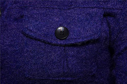 Punto Fit Para Con Slim Blau En Exteriores Vestir Elegante El Bolsillos Pecho Prendas De Abrigo Manga Colores Battercake Hombre Larga Otoño Cómodo Sólidos Chaqueta I4qwSwEx6