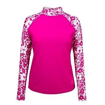 Uv skinz upf 50 women 39 s aloha long sleeve sun swim for Uv long sleeve shirt womens