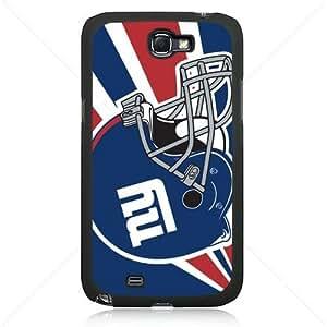 NFL American football New York Giant Fans Samsung Galaxy Note 2 II N7100 TPU Soft Black or White case (Black)