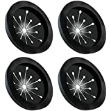 Garbage Disposal Splash Guards 4 Pack, Topspeeder Food Waste Disposer Accessories Multi-function Drain Plugs Splash Guards Fits Whirlaway, Waste King, Sinkmaster and GE Models - Guard Measures