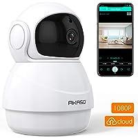 AKASO Cámara de Seguridad WiFi 1080P 360° Cámara IP de Vigilancia Interior Inalámbrico Doméstica para Bebé Perro Audio Bidireccional Visión Nocturna Posicionamiento 3D Detección de Movimiento P20