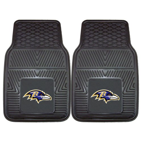 - FANMATS NFL Baltimore Ravens Vinyl Heavy Duty Car Mat