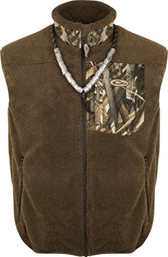 Drake MST Sherpa Fleece Hybrid Liner Vest, Color: Realtree Max-5, Size: Large (DW8620-015-3)