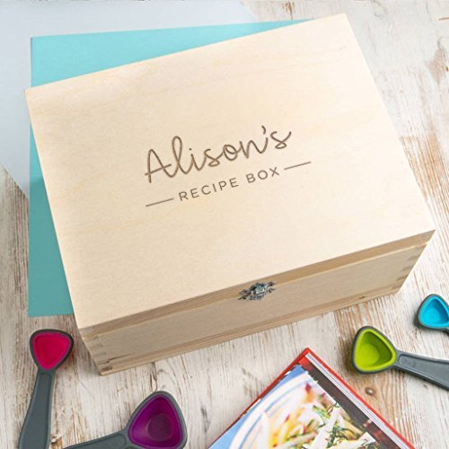 Personalized Wooden Sewing Box for Women - Engraved Recipe Box - Family Recipes Keepsake Box - Customizable Sewing Storage Box - Craft Storage Box - Personalized Box for Mothers Day from Dust and Things