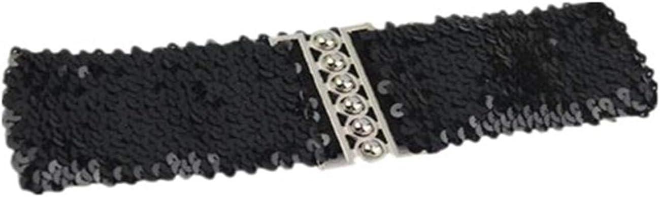 HCFKJ Cinturones De Las Mujeres De Moda Cintura Accesorios De Vestir Vintage Manual Lentejuelas Correas De CinturóN