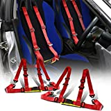 Rxmotor 4-Point Racing Seat Belt Harness Buckle 2