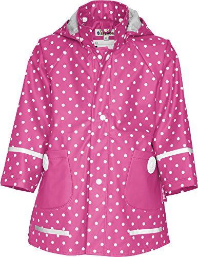 Playshoes Mädchen Regenmantel 408566 Playshoes Kinder Regenmantel, Regenjacke mit Punkten, Pink (Pink ), 98