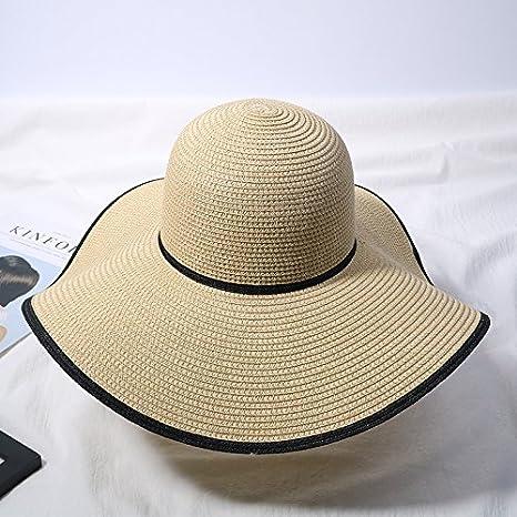 Xing Han Sombrero De Playa Sombrero De Paja Del Sol Verano Femenino Sombrero De Playa Japonesa