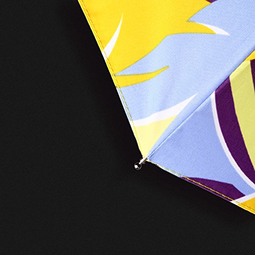 Kobold Compact Art Umbrella Lightweight Parasol Umbrellas Travel for Sun Rain UV Protection (Yellow)