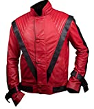 F&H Boy's Michael Jackson Thriller Genuine Leather Jacket S Red