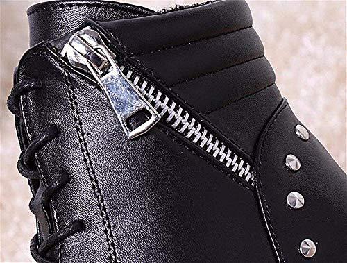 Ronde Haute Moyenne Hiver Epais Chaussures Bas Automne Dentelle Sed 's Courtes Raisonné Femmes Et Tête Bottines Manches nIvwz8qZ