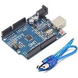 Adraxx Uno R3 Development Microcrontroller Board SMD Version With Cable (Atmega328P)