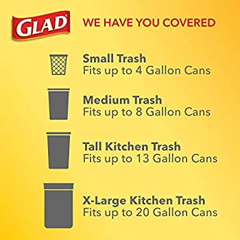 Glad Large Kitchen Drawstring Trash Bags Forceflex Kitchen Pro 20 Gallon Black Trash Bag Febreze Fresh Clean 80 Count Amazon Ae