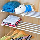 VANCORE Adjustable Storage Rack Shelf for Kithchen Cupboard Refrigerator Wardrobe Bookcase Compartment Collecting