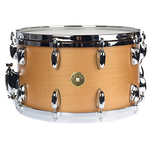 Gretsch 8x14 USA Custom Maple 10 Lug Snare Drum Millenium Maple Gloss Lacquer