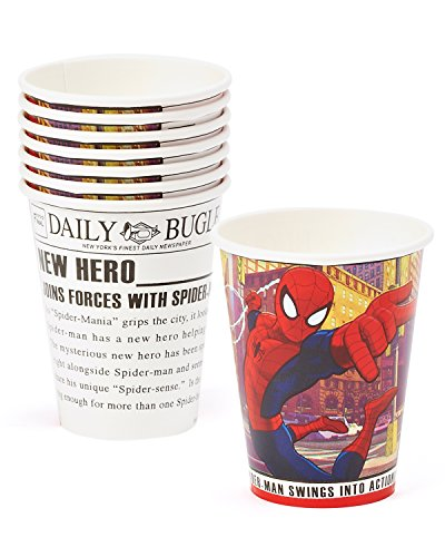 (American Greetings Spider-Man 9 oz. Paper Party Cups, 8 Count, Party Supplies)