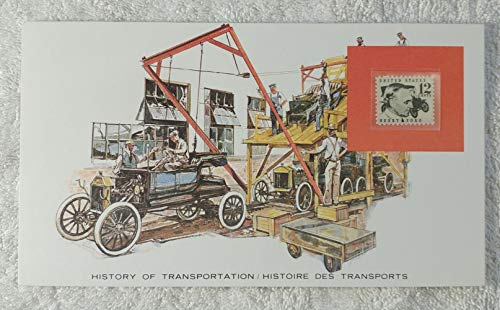 Model T Ford - Postage Stamp (United States, 1968) & Art Panel - The History of Transportation - Franklin Mint (Limited Edition, 1986) - Henry Ford, Automobile