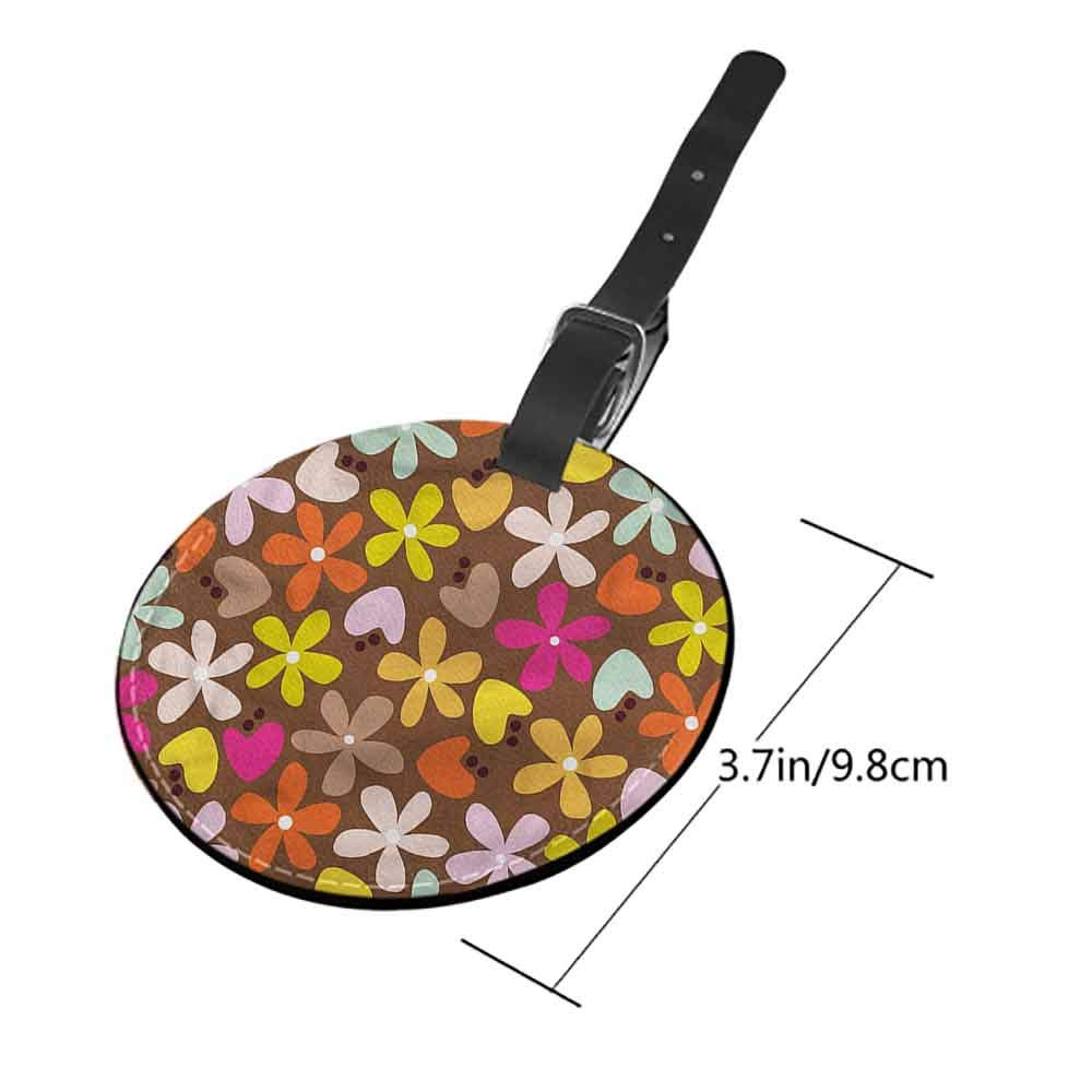 Boarding Tags Luggage Tag Flower,Coming of the Spring Address Tags