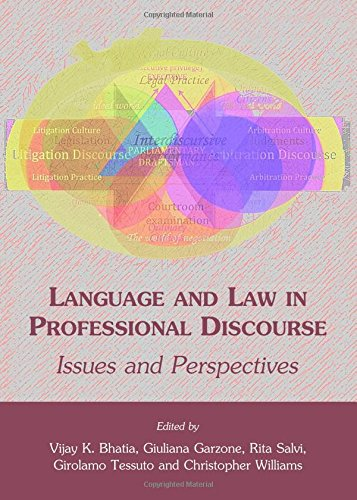 Language and Law in Professional Discourse: Issues and Perspectives by Cambridge Scholars Publishing
