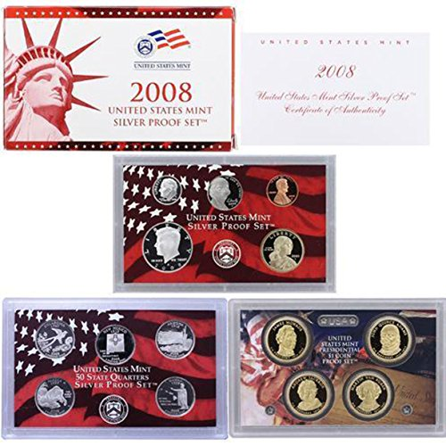 2008 S US Mint Silver Proof Set