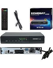 Echosat 30900 Digitale satellietontvanger - DVB-S / DVB-S2 - satelliet digitale ontvanger - Full HD 1080p satelliet voor TV (HDTV, HDMI, USB, scart) HDMI-kabel [voorgeprogrammeerd voor Astra, Hotbird en Tursat]