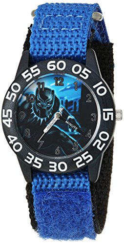 Marvel Boy's 'Avengers' Quartz Plastic and Nylon Casual Watch, Color:Blue (Model: WMA000229)