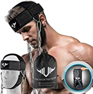 VIKINGSTRENGTH Neck Harness Padded Strength Trainer- Premium Quality for Neck Curls and Training. Head Exercis