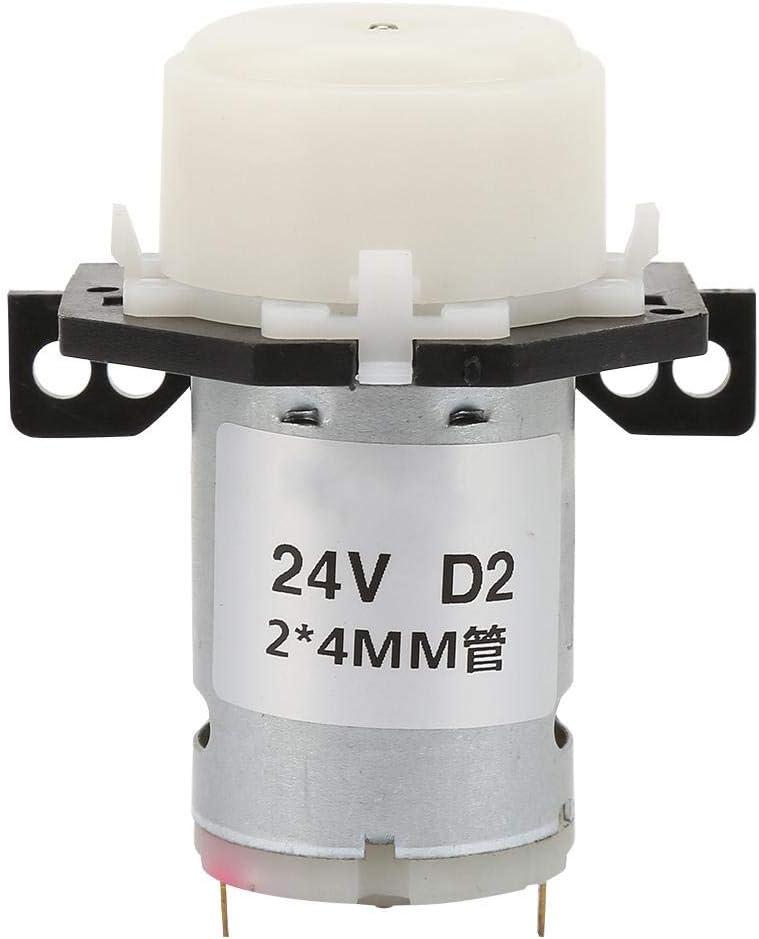 Micro Bomba Peristáltica DC 24V 2 × 4 mm D-2 Bomba Dosificadora de Líquidos DIY Bomba Peristáltica para Laboratorio Analítico Blanco