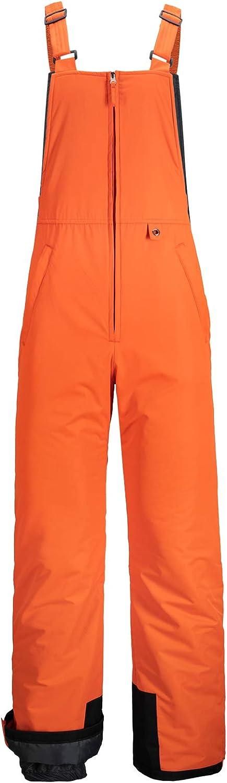 GEMYSE Men's Insulated Waterproof Ski Bib Overalls Winter Snowboarding Pants: Clothing