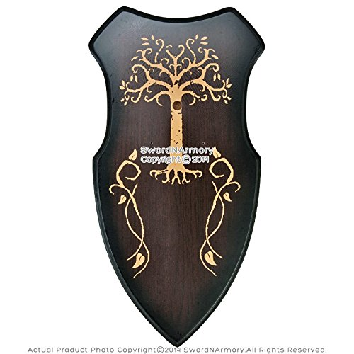 Wooden Deluxe Display Plaque Hanger for Medieval Crusader Long Sword Dagger