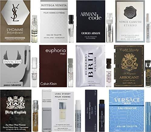Men's Designer Fragrance Samples - 12ct Cologne Vials